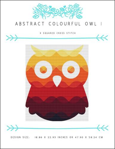 click here to view larger image of Abstract Colourful Owl I (chart)