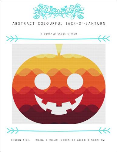 click here to view larger image of Abstract Colourful Jack O Lantern (chart)