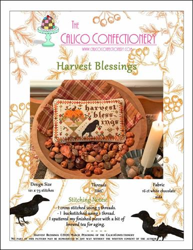 click here to view larger image of Harvest Blessings (chart)