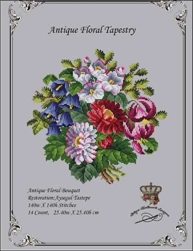 click here to view larger image of Antique Floral Tapestry (chart)