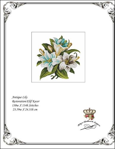click here to view larger image of Antique Lily (chart)