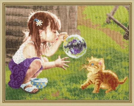 click here to view larger image of Funny Game (counted cross stitch kit)