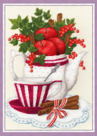 click here to view larger image of Apples and Cinnamon (counted cross stitch kit)