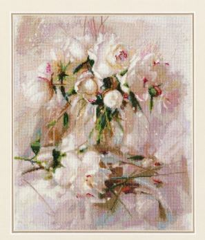 click here to view larger image of Air Peonies (counted cross stitch kit)