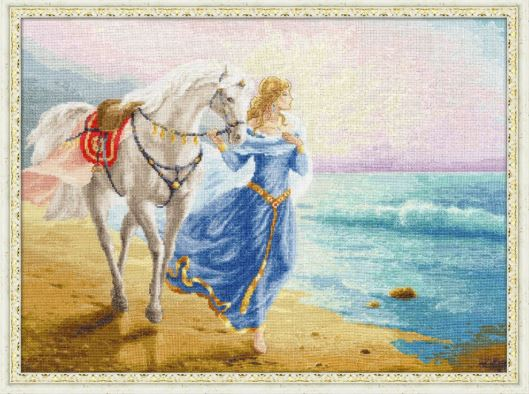 click here to view larger image of Dawn at the Sea (counted cross stitch kit)