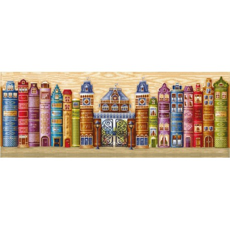 click here to view larger image of Kingdom of Books (counted cross stitch kit)