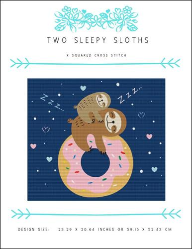 click here to view larger image of Two Sleepy Sloths (chart)