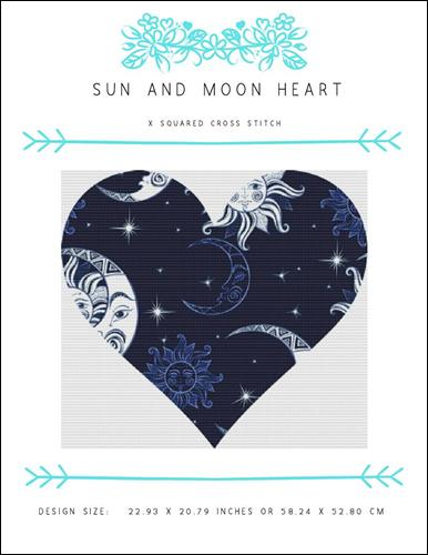click here to view larger image of Sun and Moon Heart (chart)