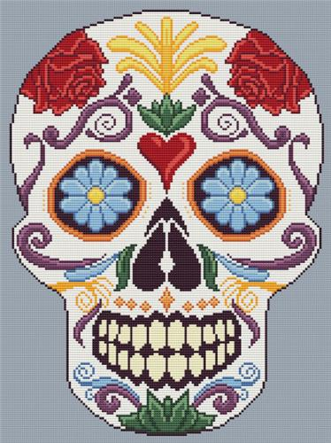 click here to view larger image of Sugar Skull Filgree (chart)