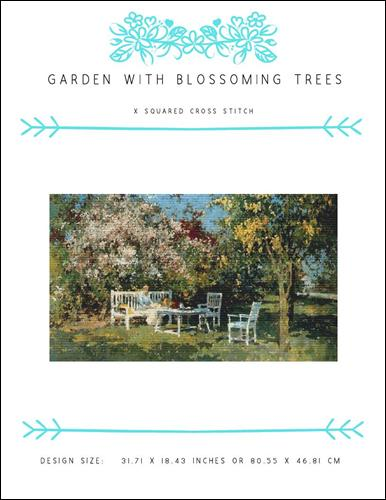 click here to view larger image of Garden with Blossoming Trees (chart)