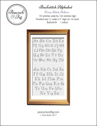 click here to view larger image of Backstitch Alphabet (chart)