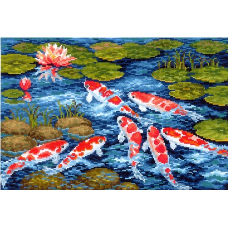 click here to view larger image of Koi Carps (counted cross stitch kit)