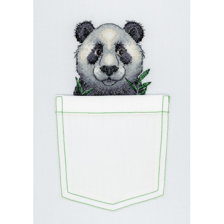 click here to view larger image of Cheerful Panda (counted cross stitch kit)