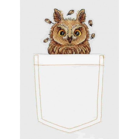 click here to view larger image of Curious Owl (counted cross stitch kit)