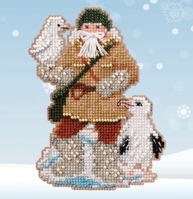click here to view larger image of Antarctic Santas - Albatross Santa  (2020)  (counted cross stitch kit)