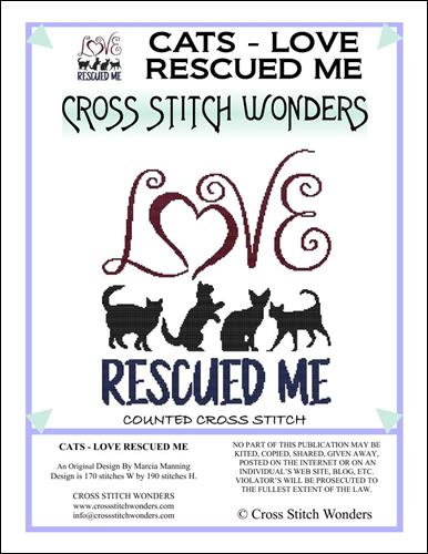 click here to view larger image of Cat Saying - Loved Rescued Me (chart)