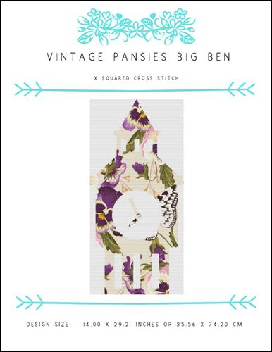 click here to view larger image of Vintage Pansies Big Ben (chart)