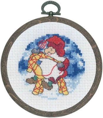 click here to view larger image of Santa Claus w/Ram (counted cross stitch kit)