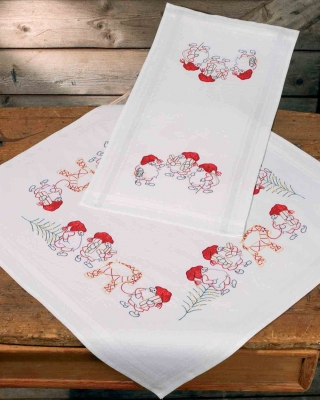 click here to view larger image of Zwerg Collection Tablecloth (bottom) - Embroidery (embroidery kit)