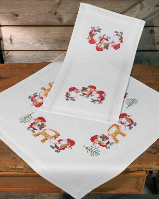 click here to view larger image of Nisse Samling Tablecloth (bottom)  (counted cross stitch kit)