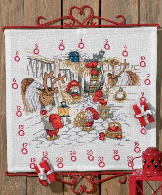 click here to view larger image of Christmas Stable Advent Calendar (counted cross stitch kit)
