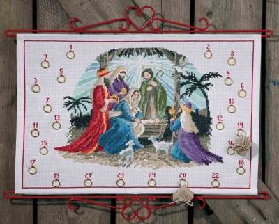 click here to view larger image of Bethlehem Advent Calendar (counted cross stitch kit)