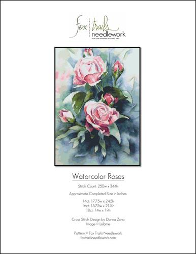 click here to view larger image of Watercolor Roses (chart)