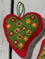 click here to view larger image of Balls in Heart (counted cross stitch kit)