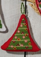 click here to view larger image of Garland in Tree (counted cross stitch kit)
