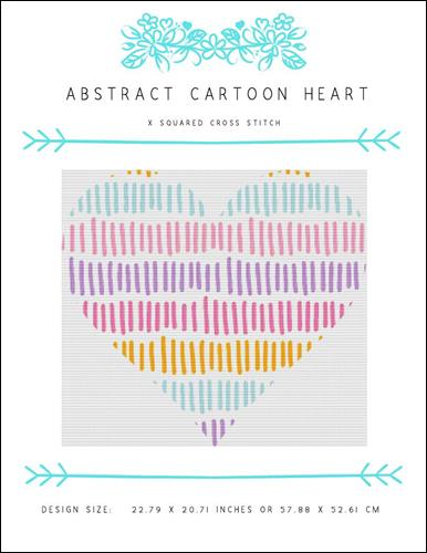 click here to view larger image of Abstract Cartoon Heart (chart)