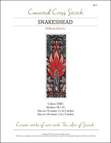 click here to view larger image of Snakeshead Bookmark (chart)