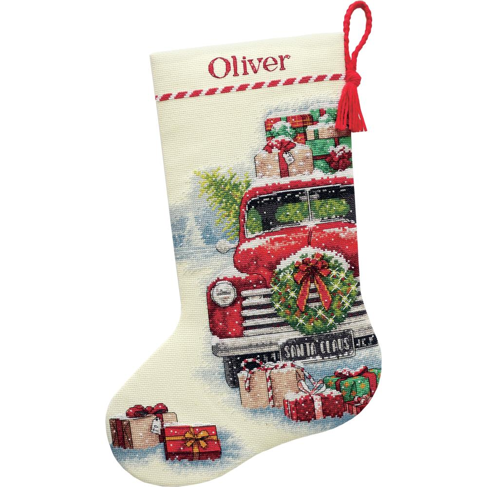 click here to view larger image of Santas Truck Stocking (counted cross stitch kit)