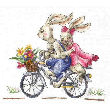 click here to view larger image of Bunnies - Like a Wind (counted cross stitch kit)