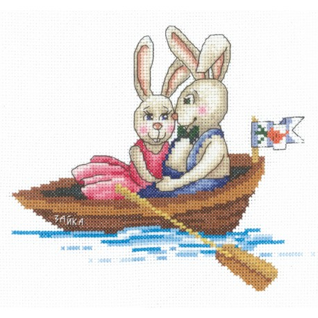 click here to view larger image of Bunnies - My Darling (counted cross stitch kit)