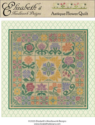click here to view larger image of Antique Flower Quilt (chart)
