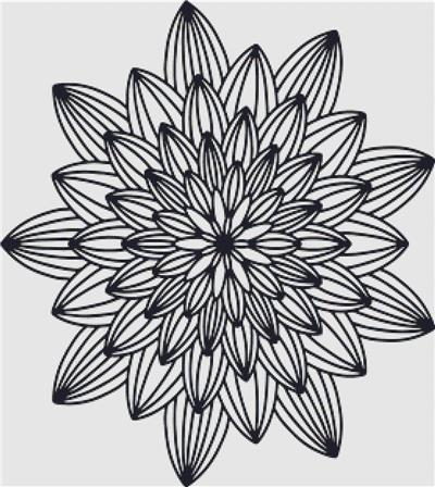 click here to view larger image of Black and White Mandala (chart)