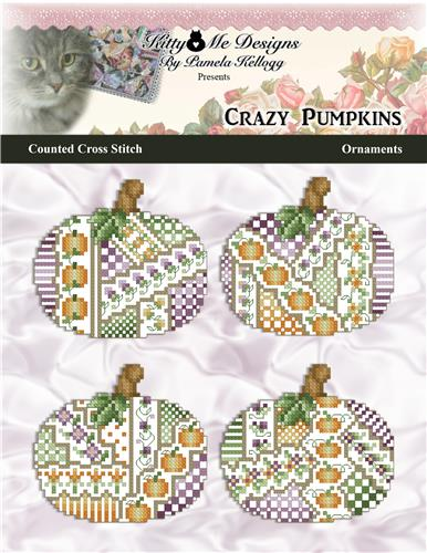 click here to view larger image of Crazy Pumpkins Ornaments (chart)