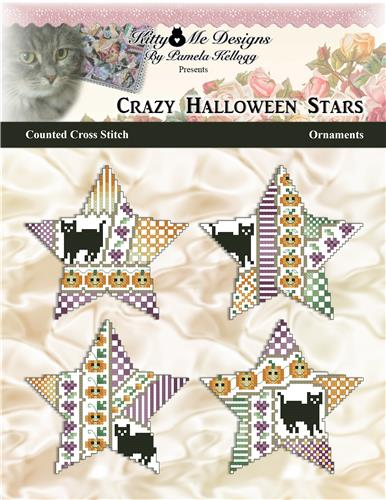 click here to view larger image of Crazy Halloween Stars Ornaments (chart)