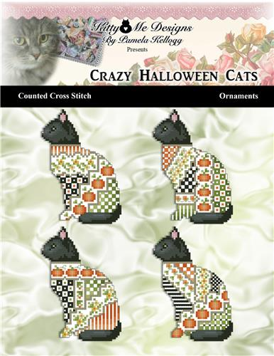 click here to view larger image of Crazy Halloween Cats Ornaments (chart)
