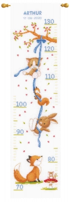 click here to view larger image of Forest Friends Growth Chart (counted cross stitch kit)