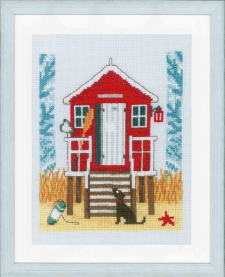 click here to view larger image of Beach Cabin (counted cross stitch kit)