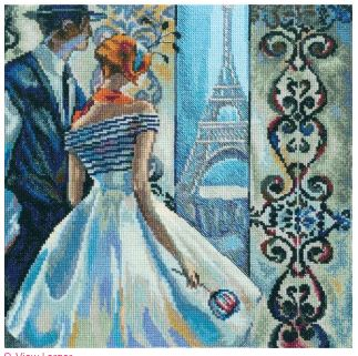 click here to view larger image of Spring in Paris (counted cross stitch kit)