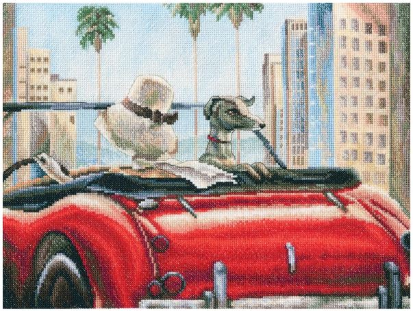 click here to view larger image of Glamorous Life (counted cross stitch kit)