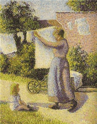 click here to view larger image of Woman Hanging Up the Washing (chart)