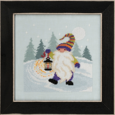 click here to view larger image of Hiking Gnome 2020 (counted cross stitch kit)