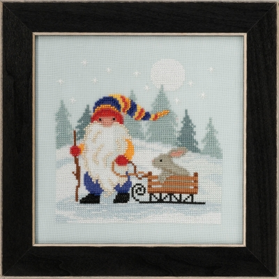click here to view larger image of Sledding Gnome 2020 (counted cross stitch kit)