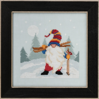 click here to view larger image of Skiing Gnome 2020 (counted cross stitch kit)