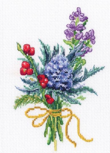 click here to view larger image of Forest Buttonholes (counted cross stitch kit)