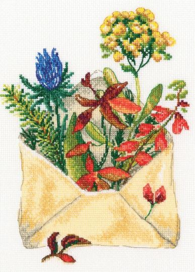 click here to view larger image of Letters From The Forest (counted cross stitch kit)
