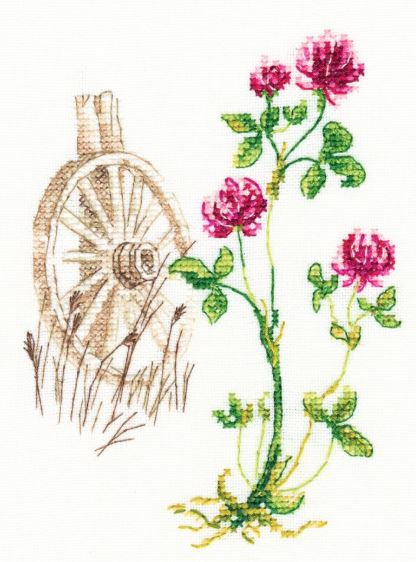 click here to view larger image of Bloomy Herbs (counted cross stitch kit)